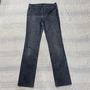 Escada straight leg long length jeans flannel wash